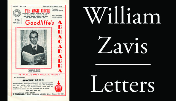 William Zavis Letters by Ricky Smith