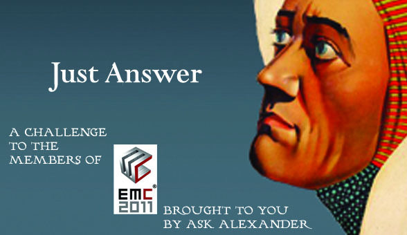 EMC 2011 and Ask Alexander Research Contest No. 2!
