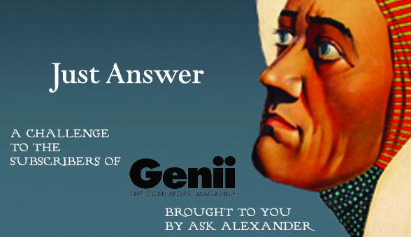 Genii Magazine and Ask Alexander Research Contest!