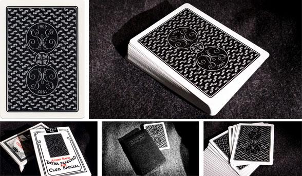 New! Erdnase 1902 Black Acorn Playing Cards