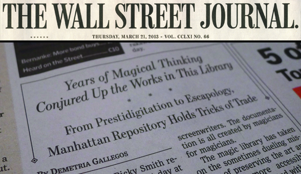 Conjuring Arts Featured in the Wall Street Journal!