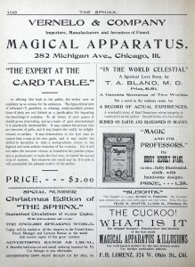 The Sphinx - November 1902 - Expert at the Card Table Ad