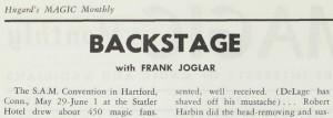 Backstage with Frank Joglar